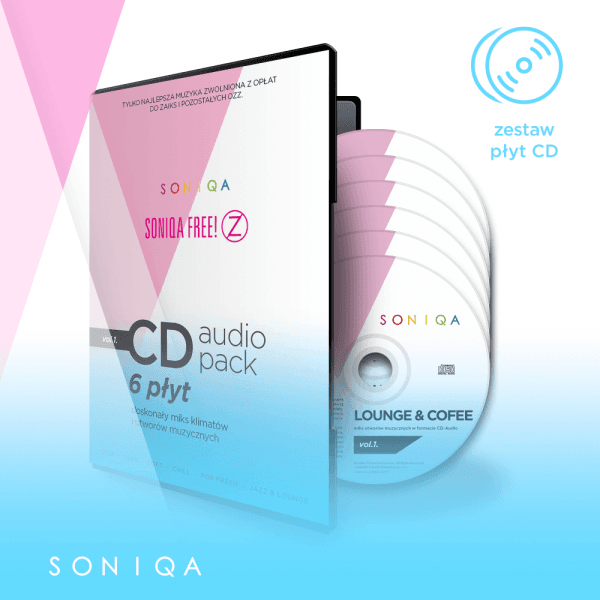 SONIQA Free Music  na CD pack vol.1.